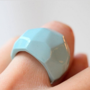 Blue porcelain Cerki ring