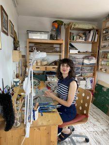 Lucia Fiore dans son atelier