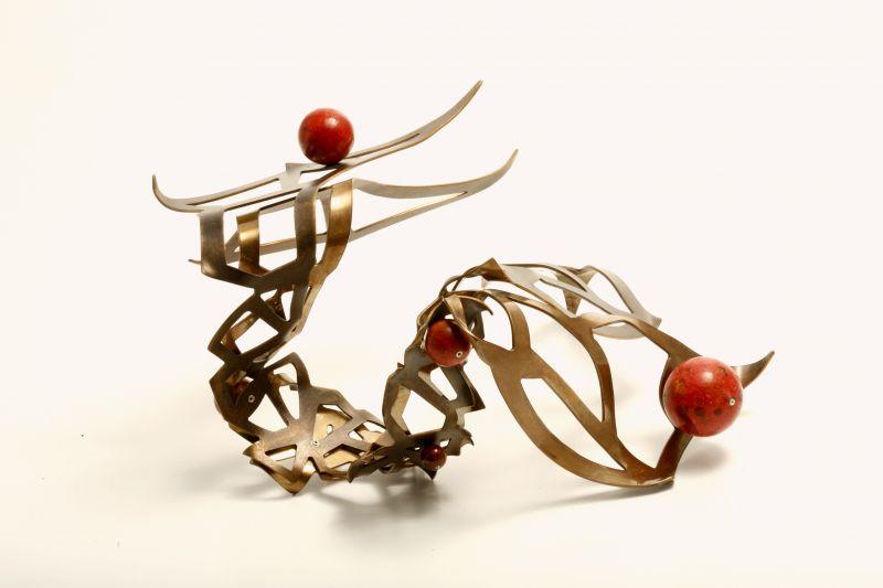 bracelet sculpture katell leclaire éthique or argent recyclés