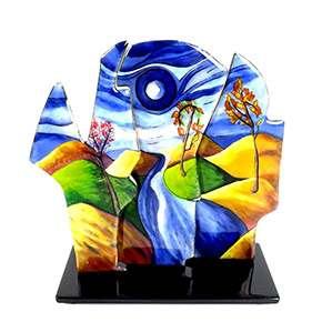 artisanat art triptyque émaux émail sur métal limoges Arédiens