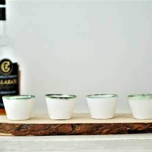 Sake cups, shot glasses in porcelain – set of 4 –  READY TO SHIP
