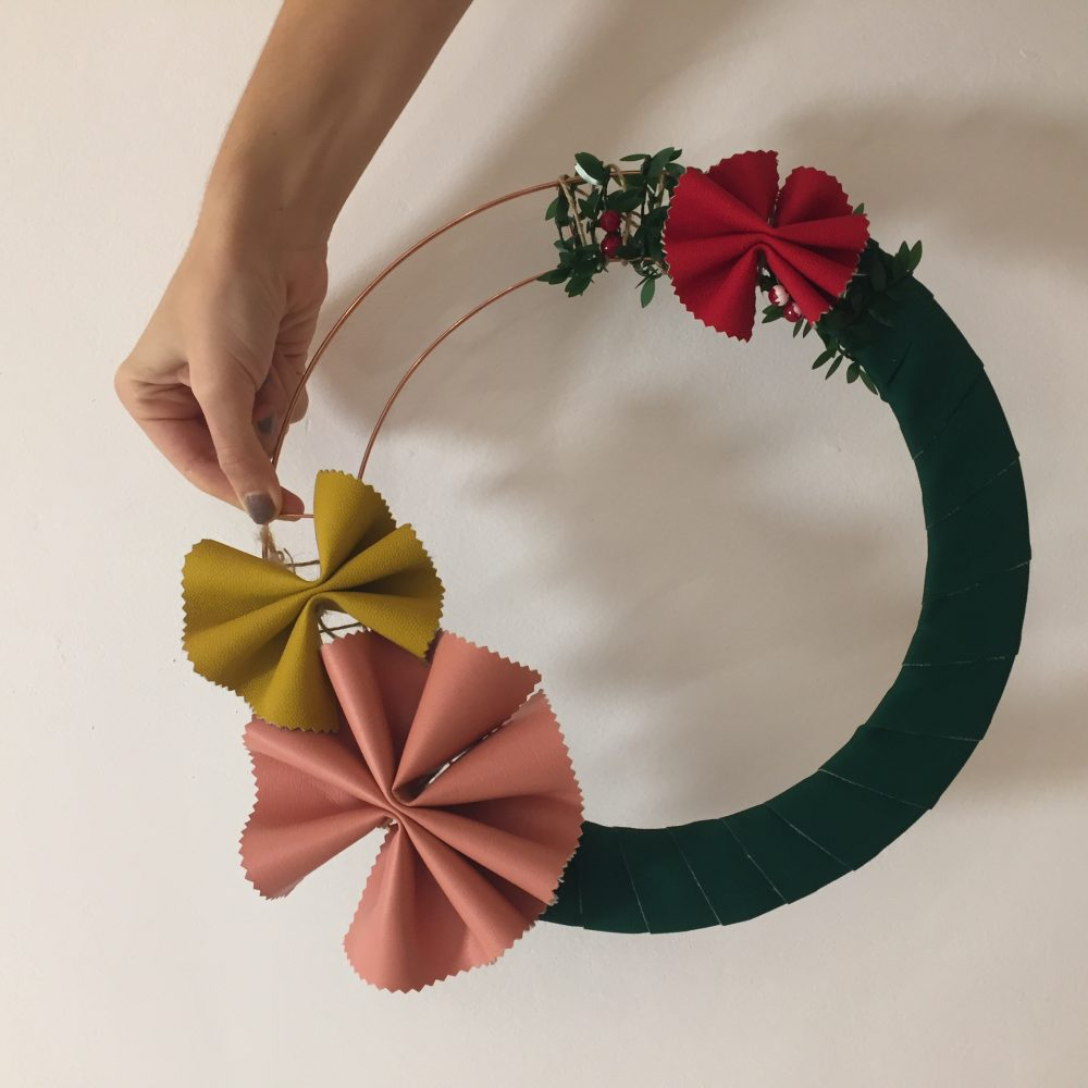 Leather Christmas Wreath Making Workshop