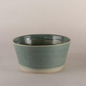 bol en grès émail vert d'eau