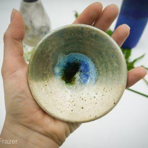 Glass infused Ceramic ring dish
