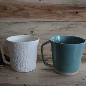 duo GRANDS MUGS 45 cl porcelaine ET grès