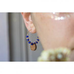 Créoles Circé – Perles bleues
