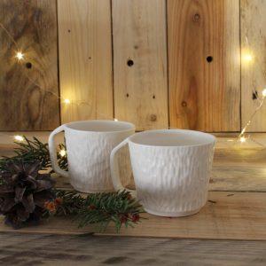 2 tasses à Espresso porcelaine