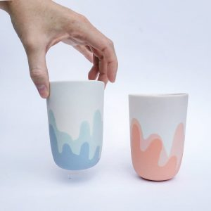Duo de tasses en porcelaine