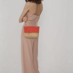 Celia: sac badouliere en cuir d'ananas