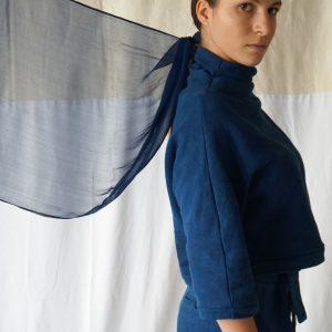 Foulard Elisa Indigo