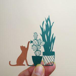 Cactus et succulentes en papier découpé
