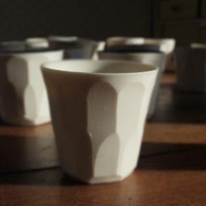 Duo de tasses expresso en porcelaine