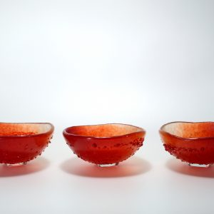 3 Turning Bowl rouge