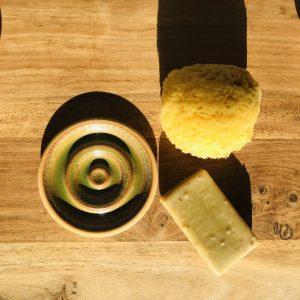 Porte-savon spirale en grès Modèle 3