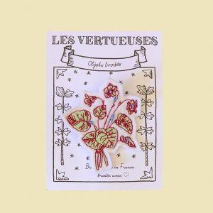 Broche «Violettes Byzantines «