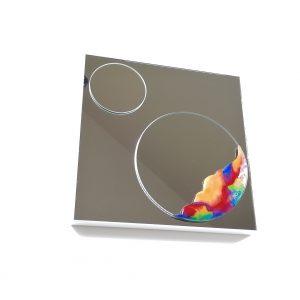 Miroir agrémenté d'émail sur cuivre