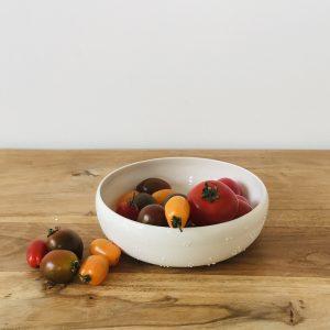 Coupelle/Assiette Etamine en porcelaine