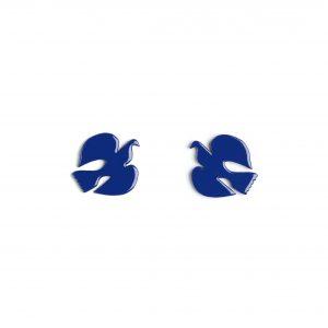 Boucle d'Oreille Colombine Bleu Klein