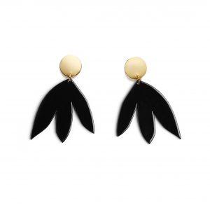 Boucles d'Oreilles SUSANA Noir + Or