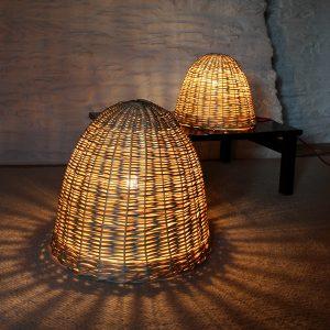 Lampe osier Nid d'amour – Petit modèle