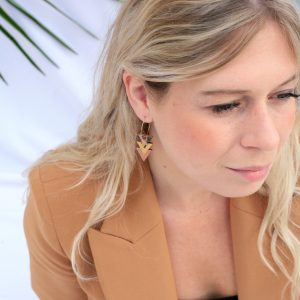BOUCLES D'OREILLES  HOLLY LEOPARD / COLLECTION SAUVAGE