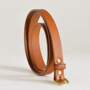 Fine ceinture en cuir, 6 coloris