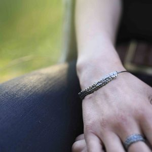 Bracelet jonc écaille en argent massif 925 recyclé