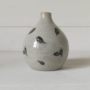 Vase mini fiole feuilles