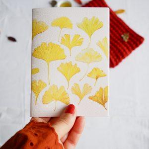 Carnet notebook botanique