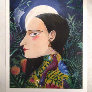 'La lune et la forêt' estampe fine art