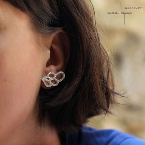 Boucles d'oreille en argent massif recyclé sans nickel