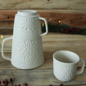 Ensemble 3 tasses en porcelaine