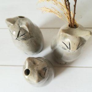 Vase soliflore Chat 2