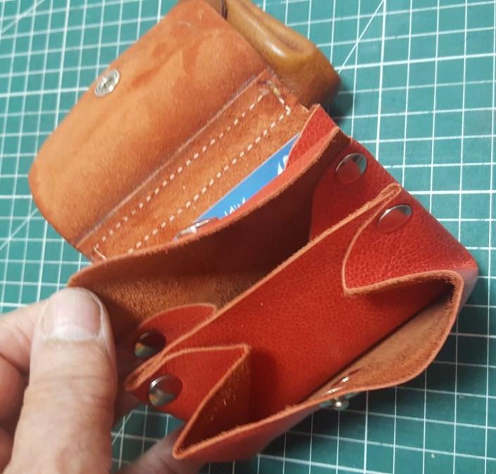 Fabriquez votre Porte-monnaie 3 soufflets en cuir